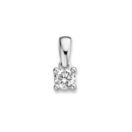 Excellent Jewelry Witgouden Hanger met 0,19 crt. Briljant