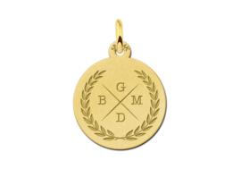 Gouden Initialen Ketting Hanger met Vier Letters | Names4ever