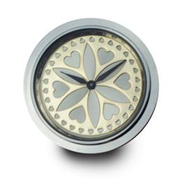 LOCKits Horloge Munt met Goudkleurige Wijzerplaat 33mm
