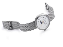 Zilverkleurig M&M Heren Horloge met Milanese Horlogeband