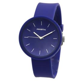 Prisma Donkerblauwe Unisex Horloge met Blauwe Band