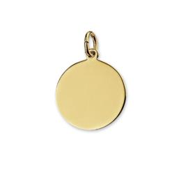 Initial Coin Gold | Ronde Graveer Hanger van Goud