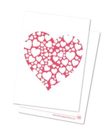 Hartjes Valentijnskaart