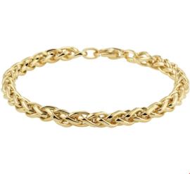 Luxueuze Geelgouden Vossestaart Armband