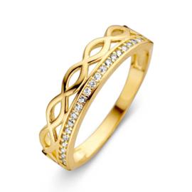 Excellent Jewelry Geelgouden Ring met Zirkonia's en Decoratie