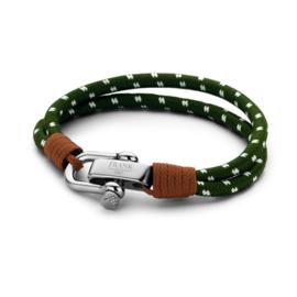 Groen met Bruine Touw Armband van Frank 1967