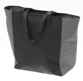 Zwarte Shopper Tas met Grijze Kleur van Davidts 70608055