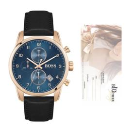 Merk Boss | Hugo Boss Horloge Skymaster | Merk Boss + Cadeaubon t.w.v. € 60,00 | Gift Set