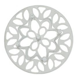 MY iMenso munten | Zilver bloemmotief 33-0224