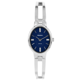 Dames Horloge van Prisma met Blauwe Ovale Wijzerplaat