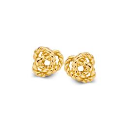 Excellent Jewelry Geelgouden Knoop Oorstekers voor Dames