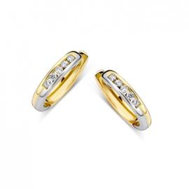 Excellent Jewelry Bicolor Zirkonia Creolen voor Dames