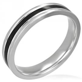 Zwarte Band Ring - Graveren mogelijk SKU32303