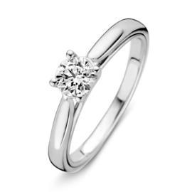 Excellent Jewelry Bolstaande Witgouden Ring met 0,50 crt. Briljant