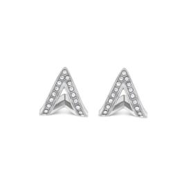 Zilverkleurige A-Vormige Oorknoppen voor Dames van Tommy Hilfiger