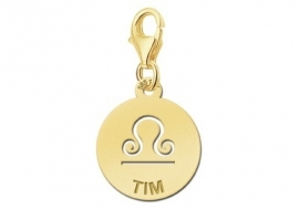 Names4ever Zodiac-Bedel Weegschaal in massief goud GBS007