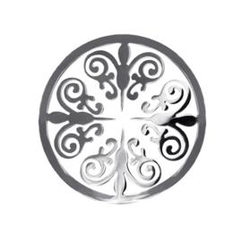 LOCKits Zilverkleurige Ornamentele Munt van Edelstaal 33mm