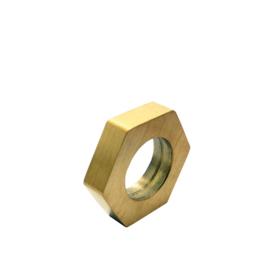 DISX Screw Bedel in Goud Kleur