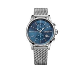 Hugo Boss Horloge Jet Zilverkleurig Horloge met Blauwe Wijzerplaat van Boss
