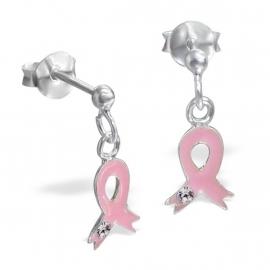 Roze strikjes oorbellen IB13269
