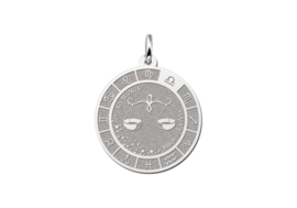 Zilveren Weegschaal Sterrenbeeld Bedel met Naam ZHS091 | Names4ever