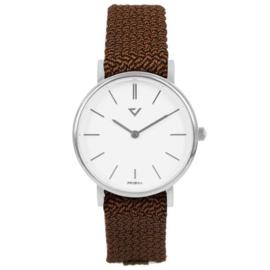 Prisma Slimline Dames Horloge – Nylon cognac