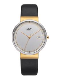 Zilverkleurig M&M Unisex Horloge met Lederen Horlogeband