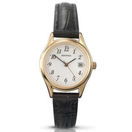 Klassiek Goudkleurig Dames Horloge van Sekonda met Zwarte Band