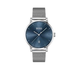 Hugo Boss Horloge Confidence Zilverkleurig Horloge met Milanese Band van Boss