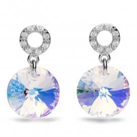 Xilion Disc Swarovski Oorbellen van Spark Jewelry
