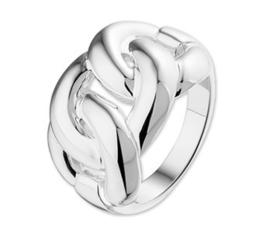Schakel Ring van Zilver / 10.19716 / maat 17,5