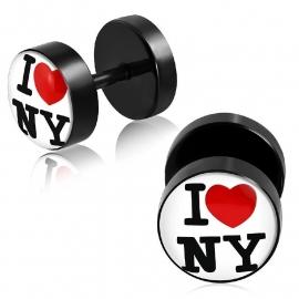 I Love NY Piercing Oorbellen