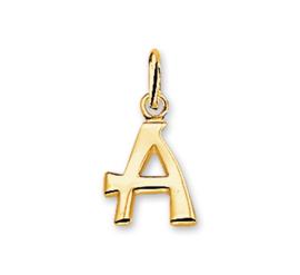 Gouden Letter Bedel Hanger – A