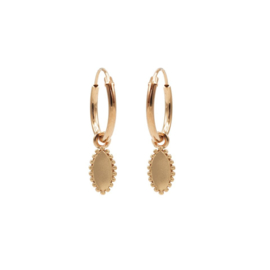 Roségoudkleurige Oorhangers met meerdere Bolletjes | Karma Jewelry