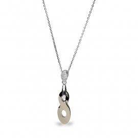 Infinity Goudkleurige Swarovski Ketting van Spark Jewelry