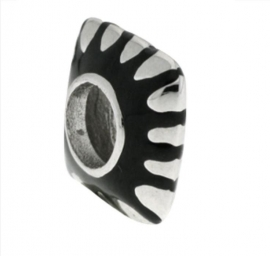 iMenso vierkant bedel zwart & zilver 40/44-TB