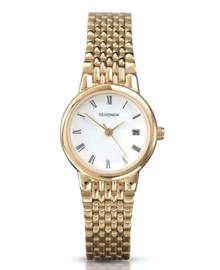 Stijlvol Goudkleurig Sekonda Heren Horloge met Witte Wijzerplaat