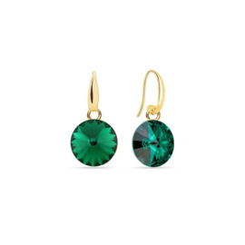 Spark Candy Gilded Earrings Emerald