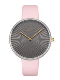 Zilverkleurig M&M Dames Horloge met Roze Horlogeband