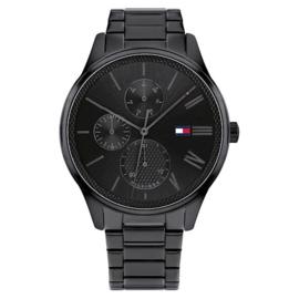 Tommy Hilfiger Zwart Heren Horloge met Zwarte Wijzerplaat