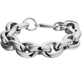 Robuuste Jasseron Armband van Edelstaal voor Dames