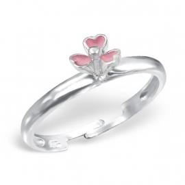 Bloemen ring voor meisjes / Roze IB1815