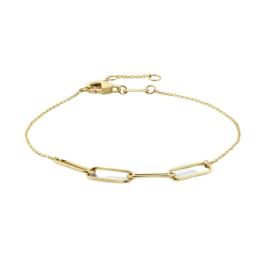 14k Gouden Armband met Paperclip Schakels 4,6 mm 16,5 – 17,5 – 18,5 cm