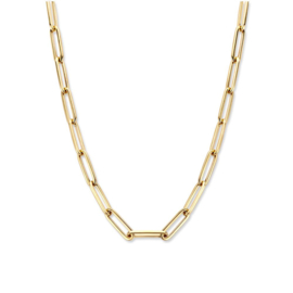 Excellent Jewelry Paperclip Schakelcollier van Goud