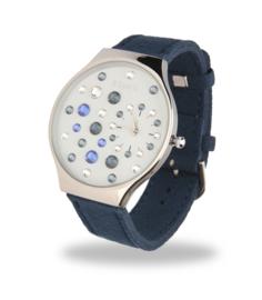 Ladybird Horloge met Brede Blauw Lederen Horlogeband van Spark