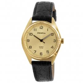 Prisma Horloge P.1556.186E Edelstaal Goud Leder