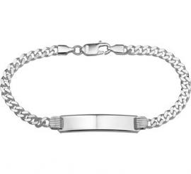 Slanke Graveer Armband van Zilver 20cm