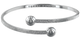 Gehamerde Cuff Armband met Zirkonia's van Tommy Hilfiger