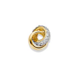 Excellent Jewelry Geelgouden Hanger met Kleurloze Zirkonia's