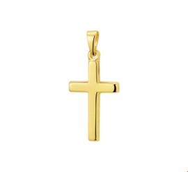 Langwerpig Kruis Hanger van Geelgoud